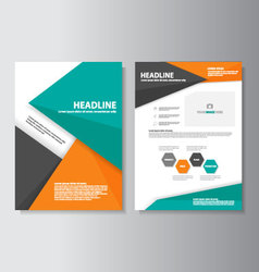 Orange green brochure flyer leaflet presentation vector