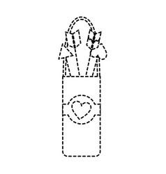Quiver love arrows cupid equipment vector