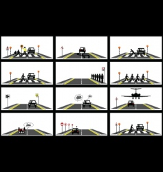 road series collection vector image vector image