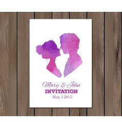 save the date wedding invitation with vector image