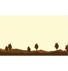 Silhouette of tree on brown backgrounds vector