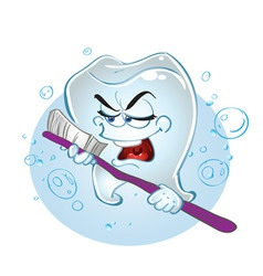 singing tooth vector image vector image