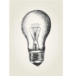 Sketch of a light bulb vector