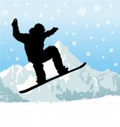 snowboarding vector image vector image