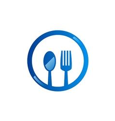 spoon fork food eat logo vector image