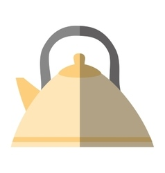 Tea kettle beverage isolated icon vector