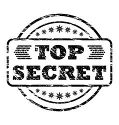Top secret damaged stamp vector