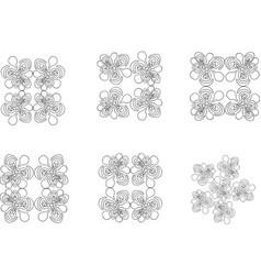 Wallpaper patterns 9 vector