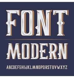 Handy crafted modern label font on dark vector