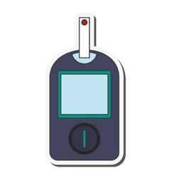 Single glucometer icon vector