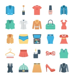 Fashion and clothes icons 4 vector