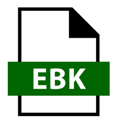 file name extension ebk type vector image