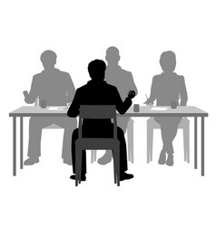 interview panel vector image