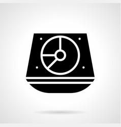 Turntable mixer glyph style icon vector
