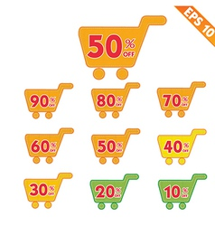 Label stitch template sale shopping cart tag - vector