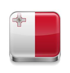 Metal icon of malta vector