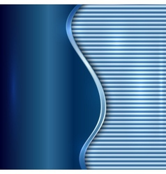 Abstract blue background with curve and stripes vector