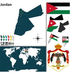 Jordan map vector image