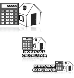 Mortgage calculator vector