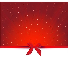 Red gift greeting card vector