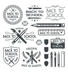Back to school badges set vector