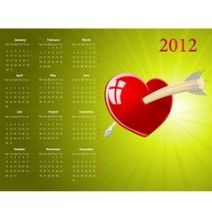 european calendar vector image