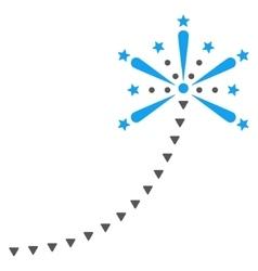 Salute Fireworks Trace Flat Symbol vector image