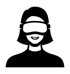 Virtual reality headset icon vector
