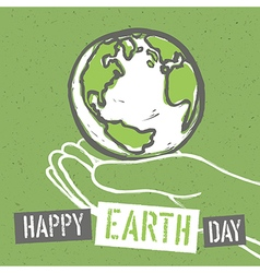 Happy earth day design for earth day concept vector