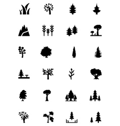 Forest solid icons 1 vector