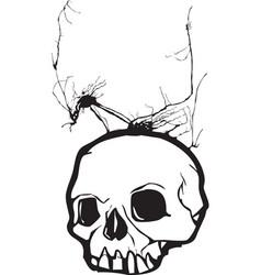 Nightmare Skull vector image