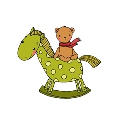 Horse and bear kids toys vector