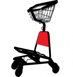 airport trolley vector image