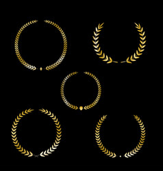 best award gold award laurel wreath set vector image