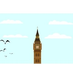 Big ben blue skies vector
