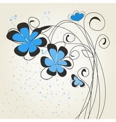Blue flower2 vector image vector image