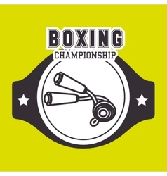boxing sport design vector image vector image