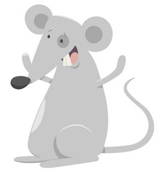 Cartoon mouse animal character vector