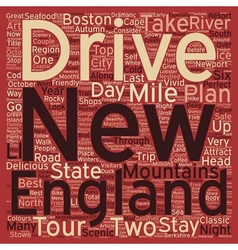 Classic drives new england tour text background vector