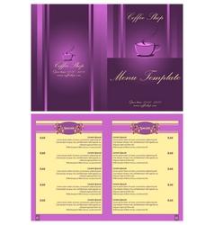 Coffee shop menu template vector