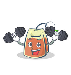 Fitness tea bag character cartoon vector