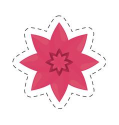 Flower petal nature color cut line vector