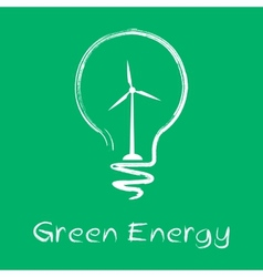 green energy lamp vector image