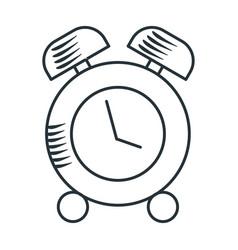 Handdraw icon alarm clock vector
