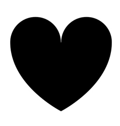 heart love isolated icon design vector image vector image