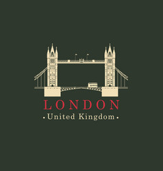 london bridge logo english architectural landmark vector image vector image
