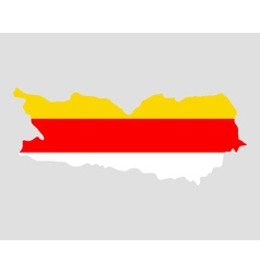 Map and flag of Carinthia vector image