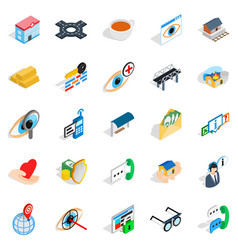 Medico icons set isometric style vector