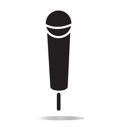Microphone icon on white background flat style vector