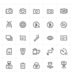mini icon set - camera icon vector image